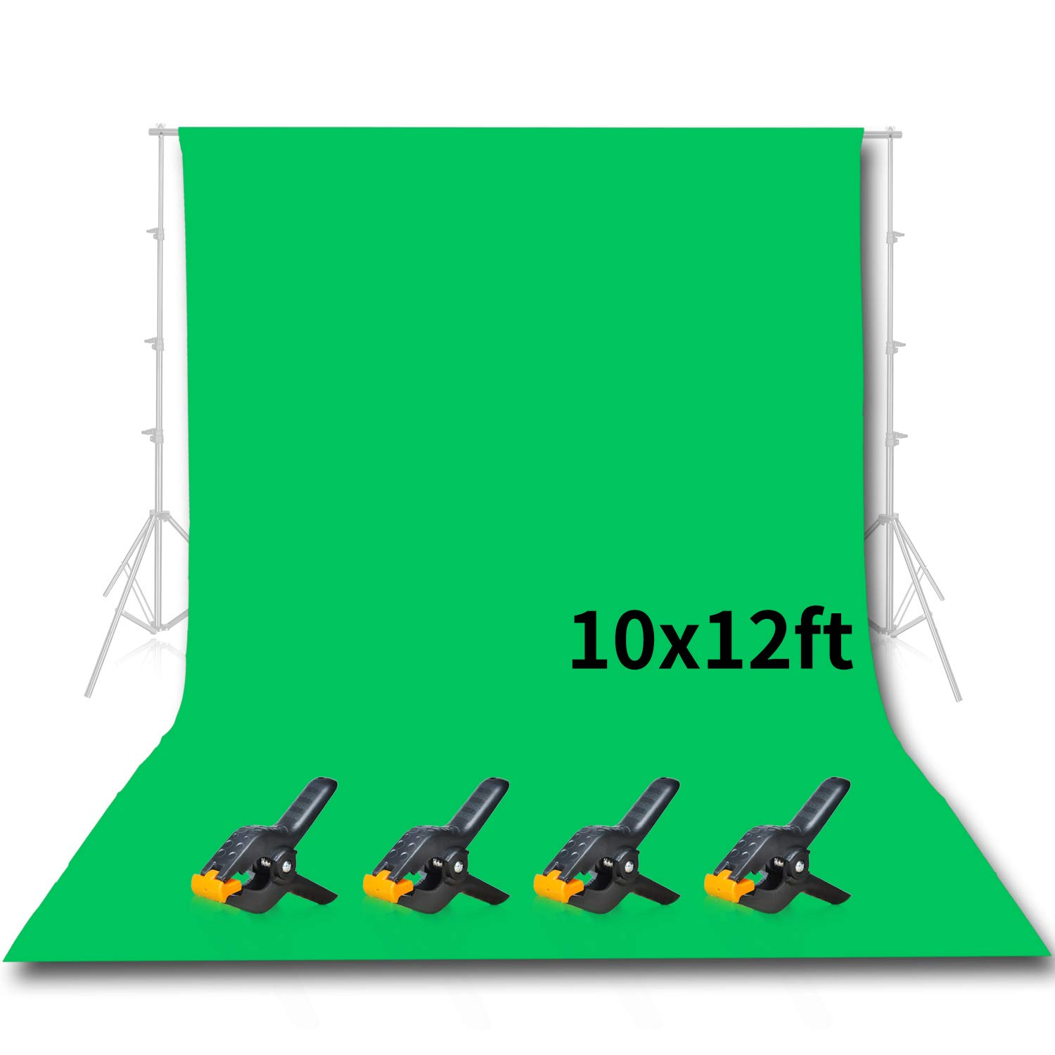 Emart Photo Studio 10 x 12ft Green Backdrop Screen, Seamless Chromakey Backdrop Muslin Background Screen for Photography by EMART
