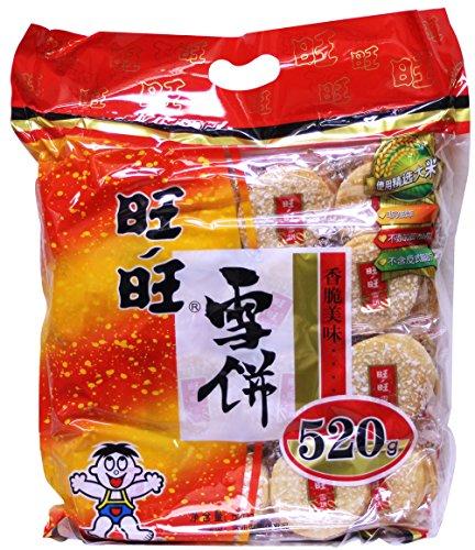 旺旺雪饼 Want Want Big Shelly Shenbei Snow cooky Crispy Rice Cracker Biscuits 520g by Wang
