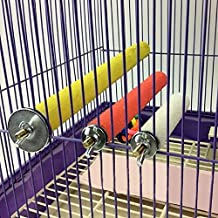 3 Sizes Colorful Pet Bird Cage Perches Stand Platform Chew Toy Paw Grinding Clean for Toys Parrot Bites Parakeet