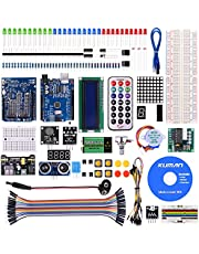 kuman K4-US para Proyecto Arduino Kit de Inicio Completo con Tutorial detallado y componentes fiables para UNO R3 Mega 2560 Robot Nano Kits