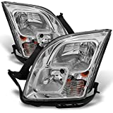 ford fusion headlight assembly - For Ford Fusion Clear Chrome Headlights Head Lamps Driver Left + Passenger Right Side Replacement Pair