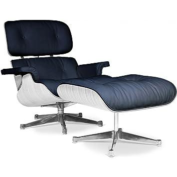 Lounge sessel holz leder  Amazon.de: Lounge Sessel von Eames, Weiß, Holz, Leder, Schwarz