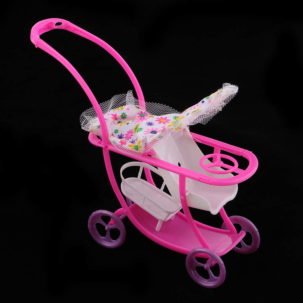 Amazon.com: Fenteer 1/6 Dollhouse Outdoor Baby Buggy Pram Infant ...