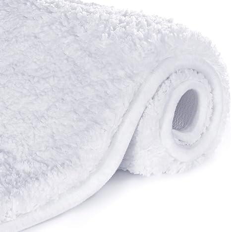 Absorbent Soft Microfiber Bathroom Rug Shaggy Bath Floor Mat Machine Washable