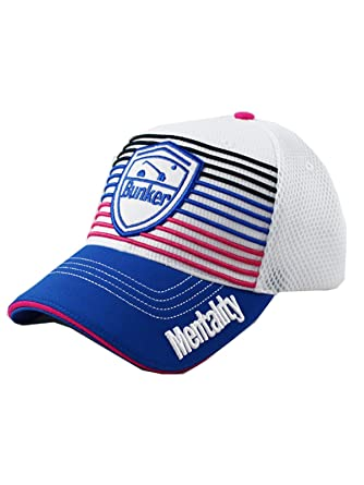 b02c43673a2 Bunker Mentality Golf Signature Stripe Cap Blue  Amazon.co.uk  Clothing