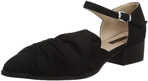 Lost Ink Imogen Half Bow Flat Shoe, Mocasines para Mujer, Negro (Black 0001), 37 EU: Amazon.es: Zapatos y complementos
