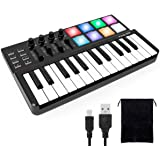 lotmusic Worlde Panda MINI Portable 25 Keys USB Keyboard MIDI Controller with Pro Software Suite Colorful Drum Pads and Carry