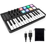 Worlde Panda MINI Portable 25 Keys USB Keyboard MIDI Controller Synthesizer Beat Machine with Pro Software Suite…