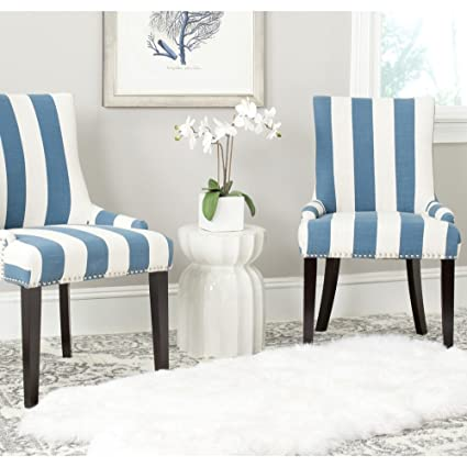 Charmant Safavieh Mercer Collection Lester Dining Chair, Blue And White Stripe, Set  Of 2