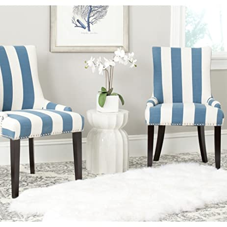 Lovely Safavieh Mercer Collection Lester Dining Chair, Blue And White Stripe, Set  Of 2