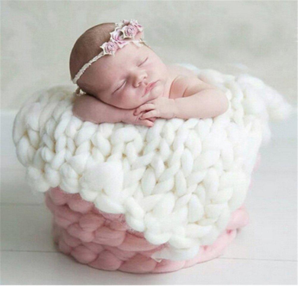 YouPei® Newborn Baby Foto Requisiten Faux Woll Korb Stuffer Decke Teppich