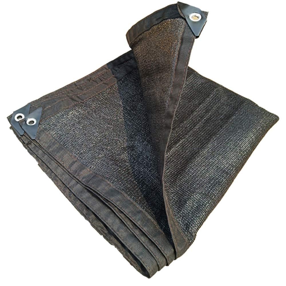 FEIFEI 日よけの帆布、屋外の日よけの網、日曜日の網の網、植物カバー、ペット陰カバー、紫外線ブロックの生地 (色 : ブラック, サイズ さいず : 8×10m) 8×10m ブラック B07Q8313B1