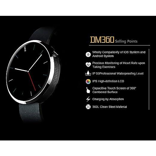 Buyee® Schwarz Wasserdichte Bluetooth Smartwatch: Amazon.de ...
