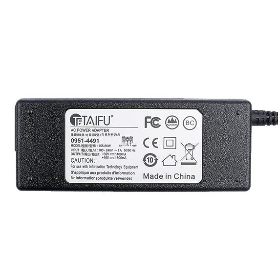 TAIFU HP Impresora 32V 1100MA+16V 1600MA Cargador para HP PSC ...