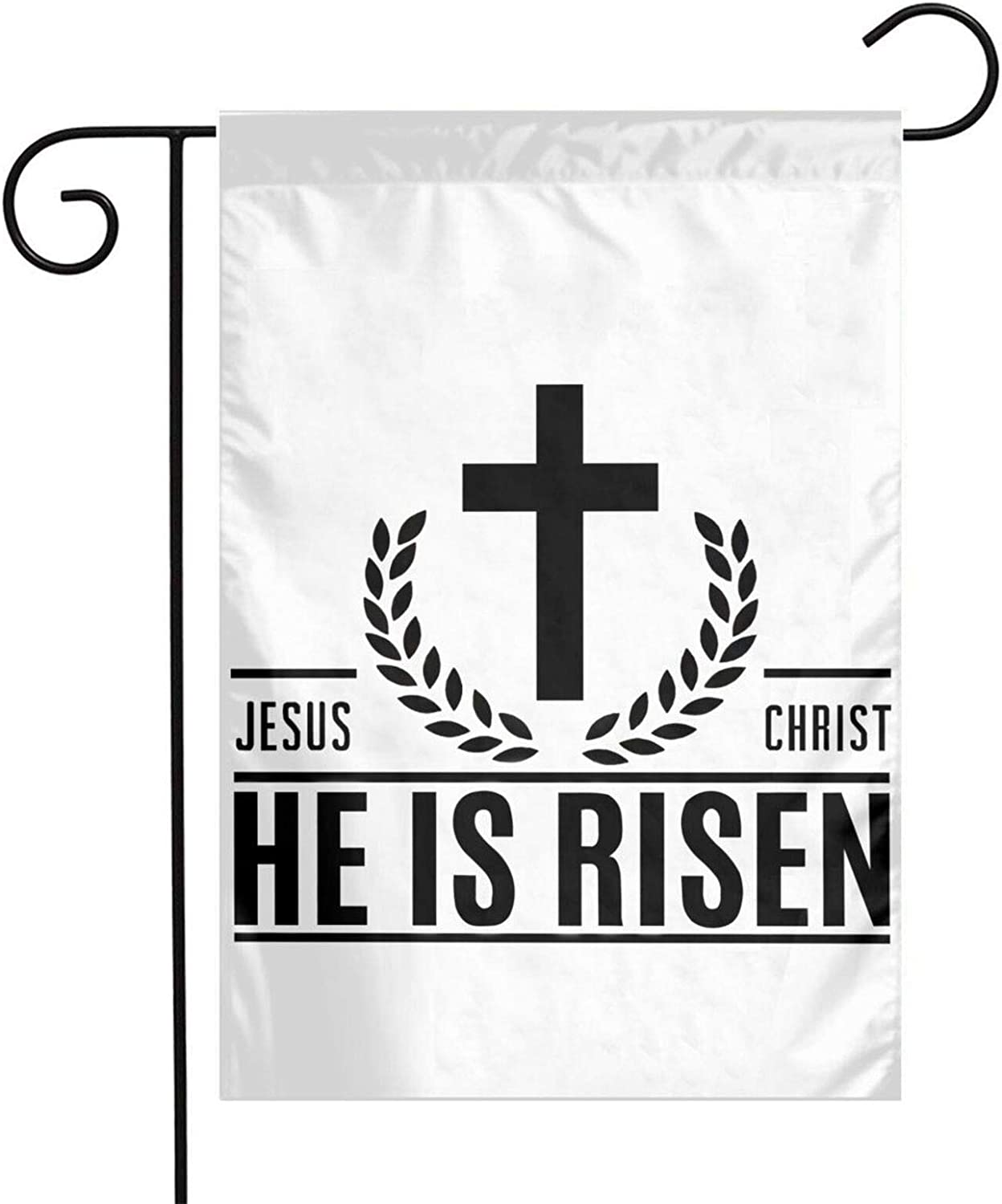 Goewrao Jesus Christ He is Risen Christian Garden Flag,Welcome/Farmhouse/Outdoor/Decor/Front Porch/Patriotic Yard Flag 12 x 18 Inch