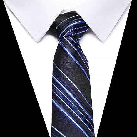 ZHENZHIA - Corbata de Seda para Hombre, diseño de Rayas ...