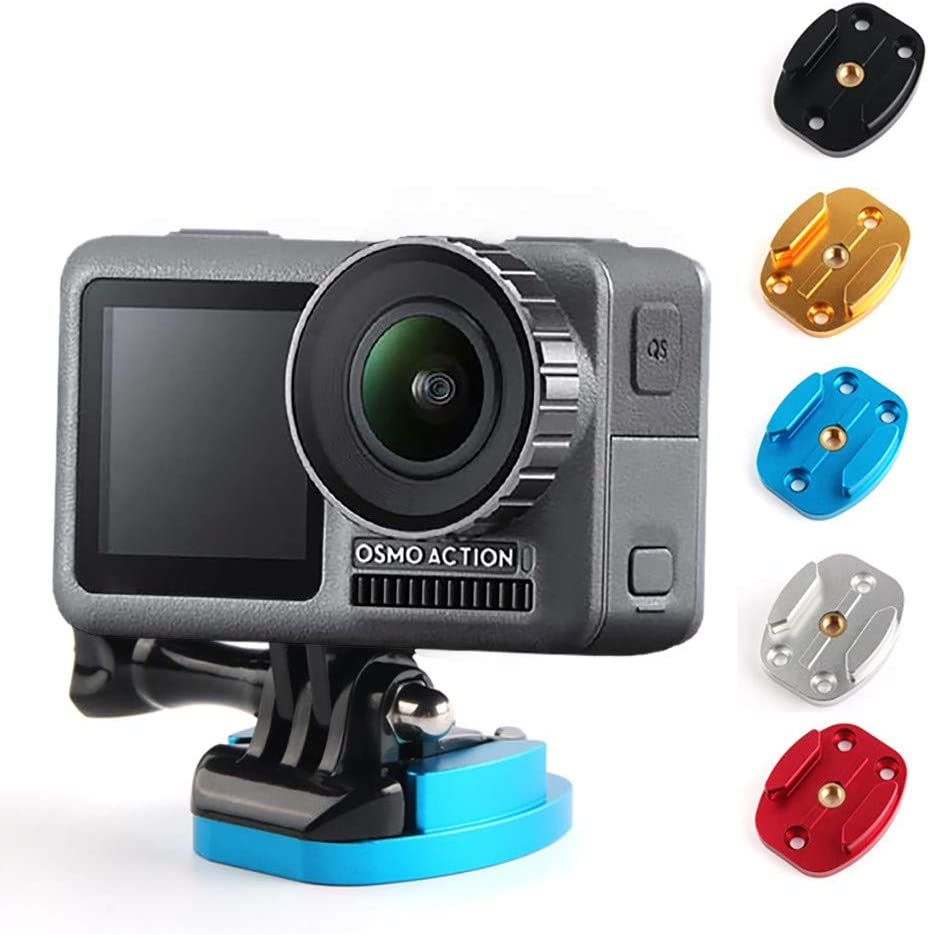 Silver Berryhot Aluminum Alloy Flat Surface Mount Base for DJI Osmo Action Camera Tripod