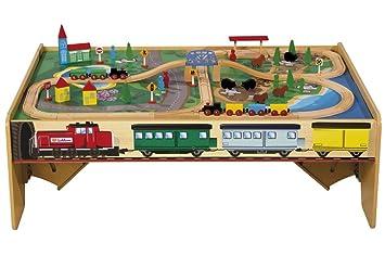 Spieltisch Eisenbahn eichhorn 100001970 holz bahn mit spieltisch inklusive zubehör