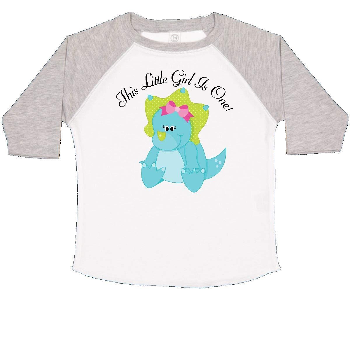 inktastic 1st Birthday Dinosaur Girl Toddler T-Shirt