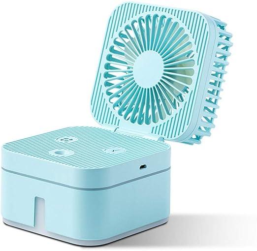 LUXNOVAQ Mini Ventilador USB Desktop Fan Ventilador Agua ...