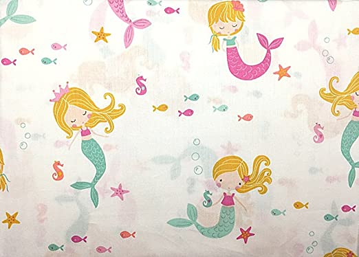 Authentic Kids Pink and Blue Mermaid Sheet Set Twin Size