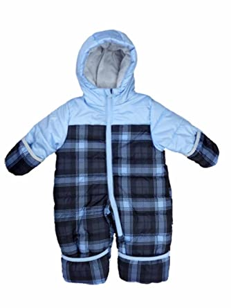 efa7f9d88 Amazon.com  Carter s Infant Boy Blue Plaid Quilted Snowsuit Baby ...