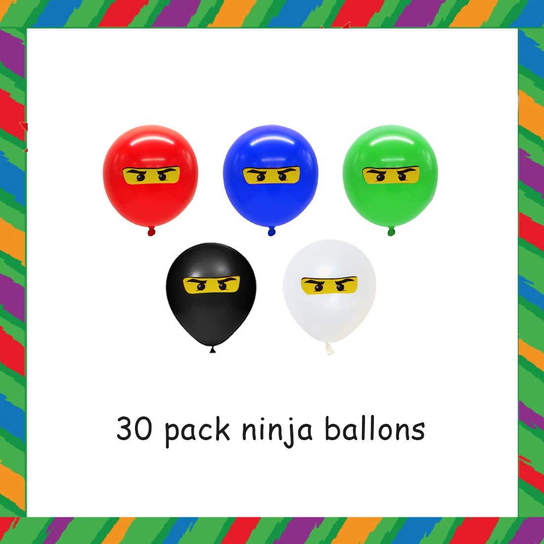 Fangleland Ninja Balloons Decoraciones de Fiesta para niños ...