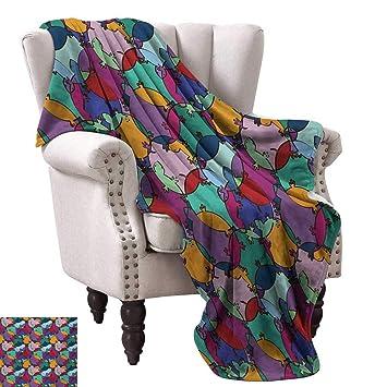 Amazon.com: WinfreyDecor Colorful Home Throw Blanket Rainbow ...