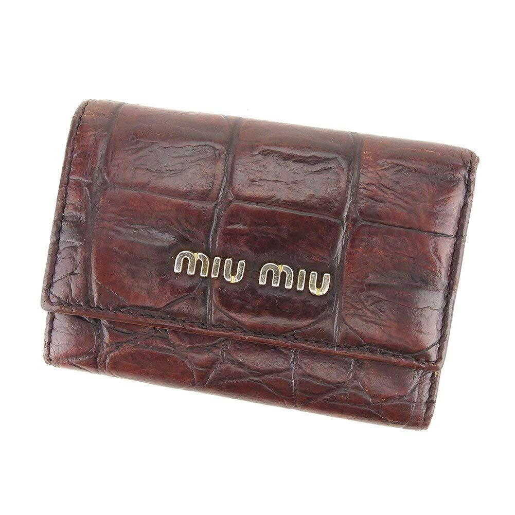(ミュウミュウ) Miu Miu キーケース 6連キーケース クロコダイル型押し レディース 中古 I540   B07JC7XW2T