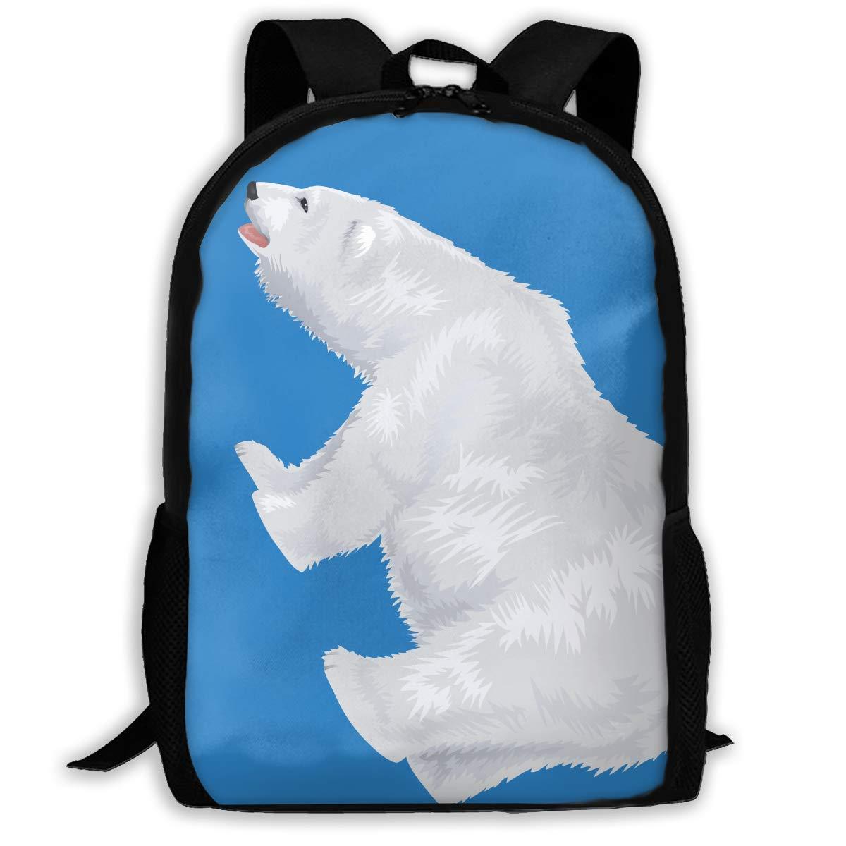 Casual Backpack Weiß-Polar-Bear-Transparent-Clip-Art-Image Weiß-Polar-Bear-Transparent-Clip-Art-Image Weiß-Polar-Bear-Transparent-Clip-Art-Image 3D Printing School Bags for Boys Girls Unisex Adult Shoulder Bag Daily Bag bd4830