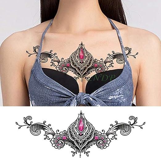 4pcs Impermeable Etiqueta engomada del Tatuaje de la Flor ...