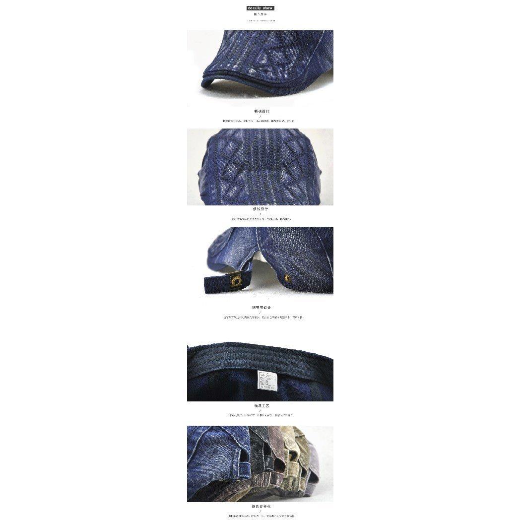 Unisex Summer Outdoor Casual Diamond Print Newsboy Cap Visor Beret Hat