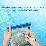 Etbotu 5 Pcs Household Zipper Vacuum Seal Plastic Bag Food Saver Vacuum Sealing Tool