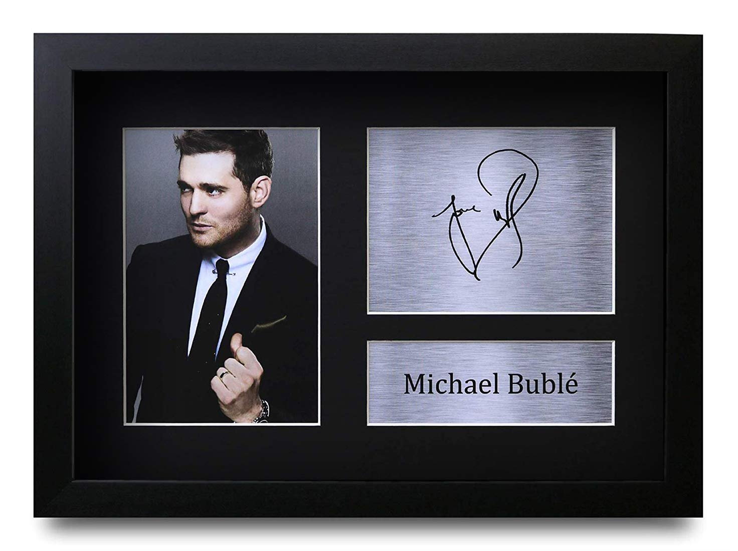HWC Trading FR Michael Buble Gifts Signed FRAMED A4 Printed Autograph Music Gift Print Photo Picture Display