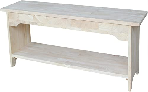 International Concepts BE-36 Brookstone Bench, 36 , Unfinished