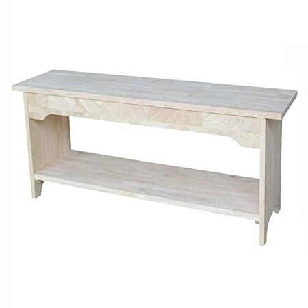 International Concepts BE-36 36-Inch Brookstone Bench, Unfinished