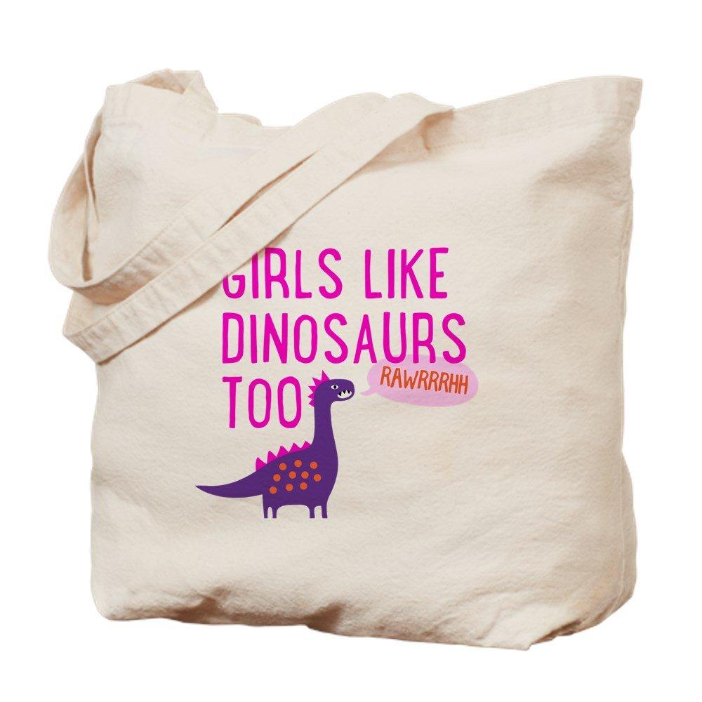 新品入荷 CafePress – B06Y4C4KFS Girls – Like Dinosaurs Girls Too RAWRRHH – ナチュラルキャンバストートバッグ、布製ショッピングバッグ B06Y4C4KFS, 三野町:a7ee5b1d --- 4x4.lt