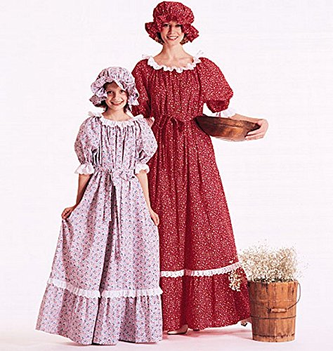 Edwardian Sewing Patterns- Dresses, Skirts, Blouses, Costumes Misses and Girls Costumes Sewing Template Girls 10-12 $4.94 AT vintagedancer.com
