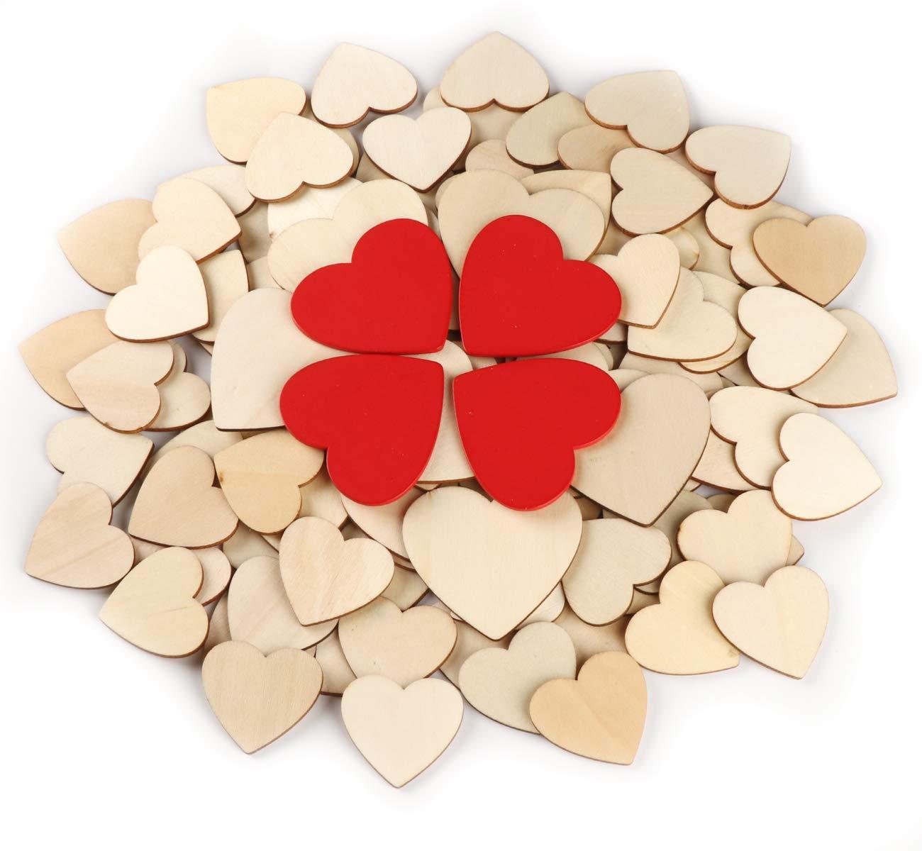 corazones de madera es adecuado para diferentes ocasiones, como hacer tarjetas, adornos, álbumes de recortes, fiestas de cumpleaños, ceremonias y celebraciones
