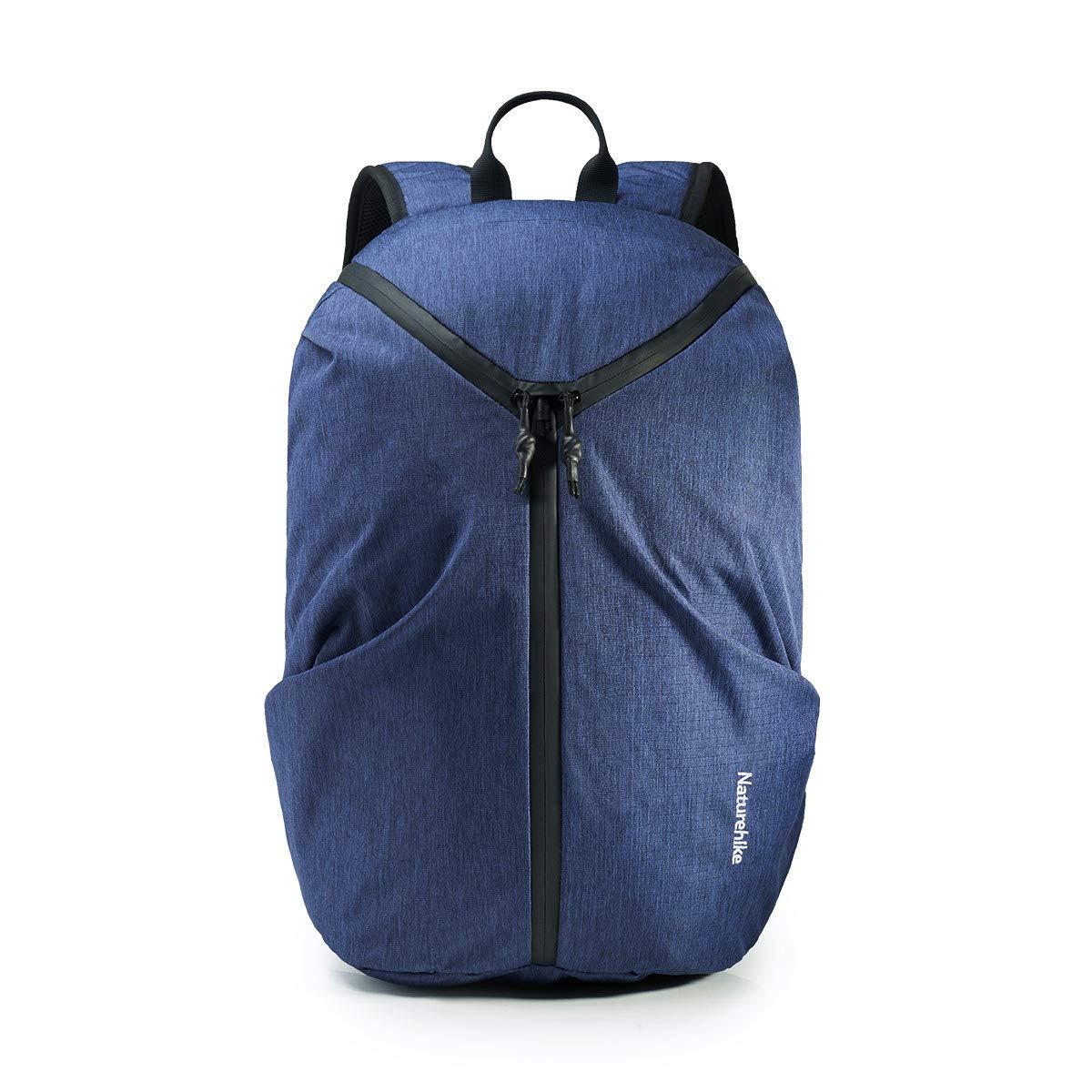 Naturehike Travel Laptop Backpack, Lightweight Hiking Daypack Fit 15.6 Inch Laptop with USB Charging Port,Large Backpack for Women & Men (25L Navy Blue)