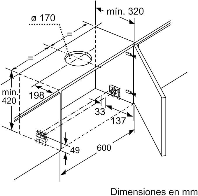 Balay 3BT890B - Campana (710 m³/h, Canalizado, A, A, B, 55 dB ...
