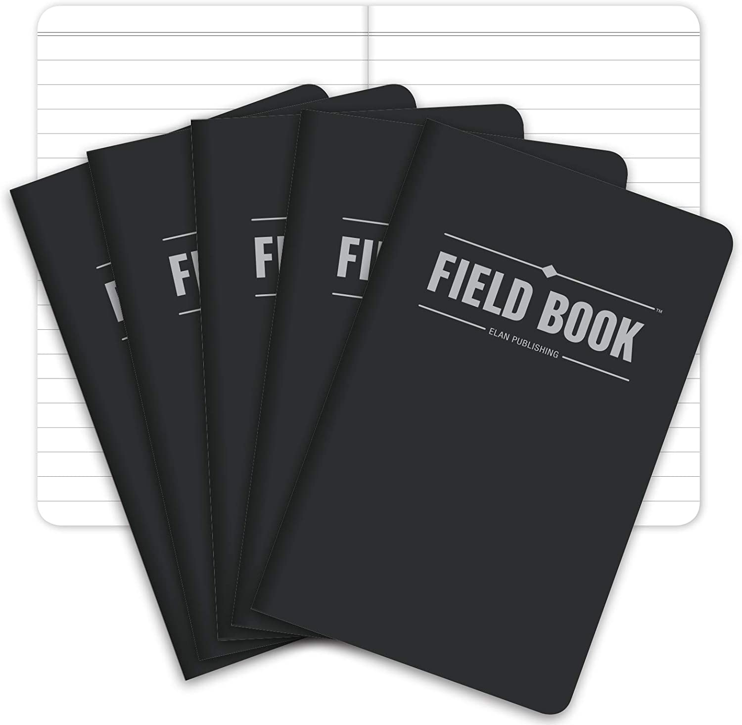 Pack of 5 Field Notebook Lined Memo Book Monet Patterns 3.5x5.5