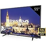 TD Systems K55DLY8US - Televisor Led 55 Pulgadas Ultra HD 4K Smart, resolución 3840 x 2160, HDR10, 3X HDMI, VGA, 2X USB, Smart TV.