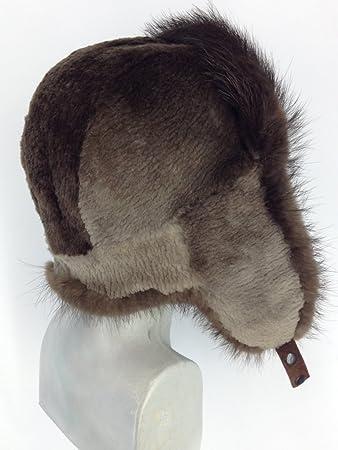Amazon.com  Regular and Sheared Beaver Fur Full Trapper Hat  Everything Else d8ac591e00dd