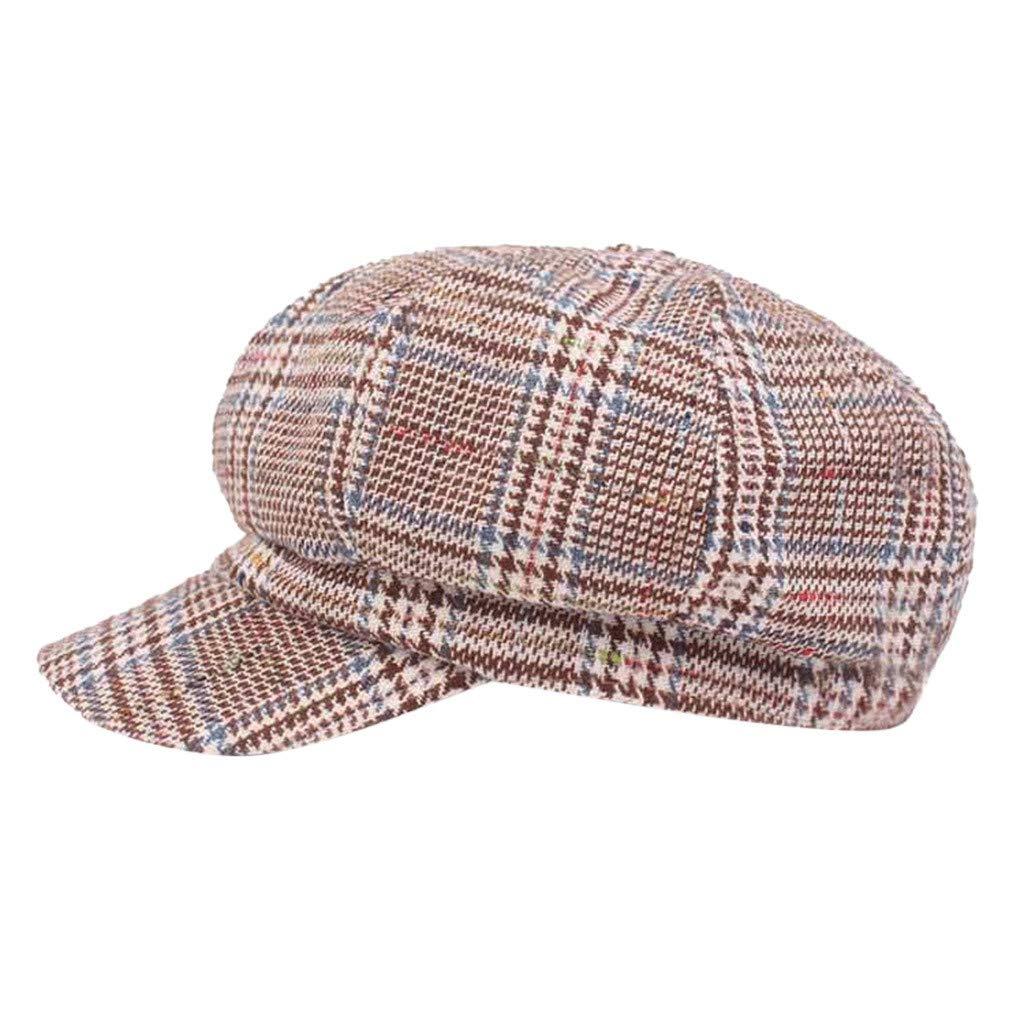 FEDULK Unisex Newsboy Gatsby Classic Retro Cap Golf Cabbie Driving Women Men Beret Hat(A, One Size)
