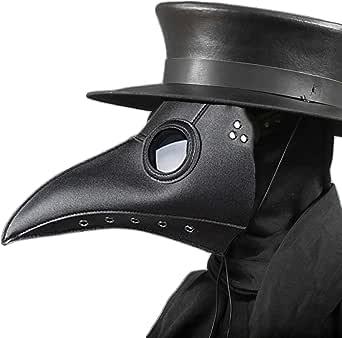 Disrerk Plague Doctor Mask Long Nose Bird Beak Halloween Costume Props Gift