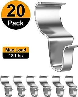 Amazon.com: Ganchos laterales de vinilo para colgar, de ...