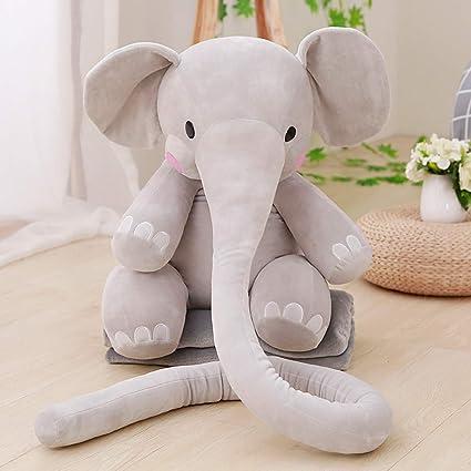KINGEE-T Elefante Juguetes de Peluche Animales Almohada de ...
