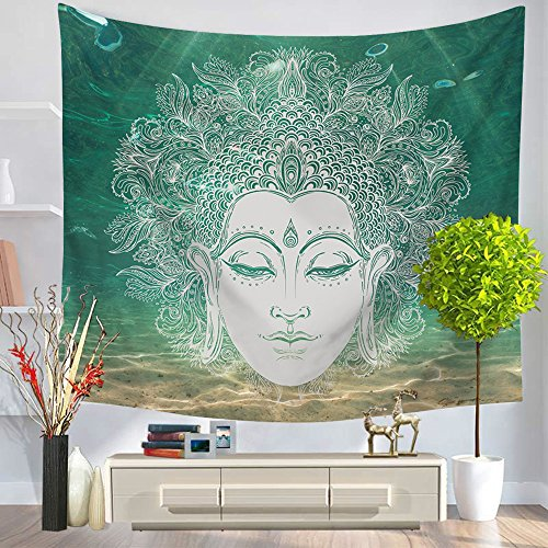 Third Goddess Buddha Statue Tapestry, Popular Handicraft Home Decor Tapestries ()