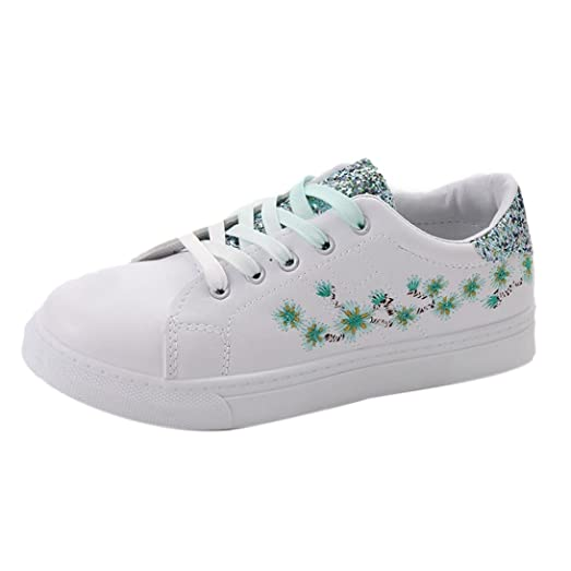 Amazon womens casual shoes embroidery flowers sneakers retro womens casual shoesembroidery flowers sneakers retro small white shoes sports shoes steplove mightylinksfo